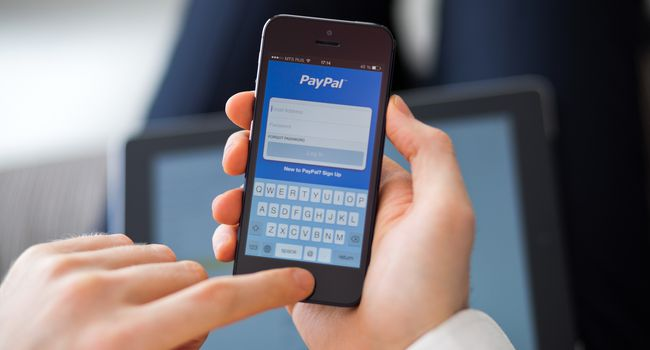 PayPal app on iPhone 5