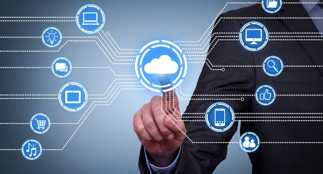 Cloud Computing Concepts on Touch Screen