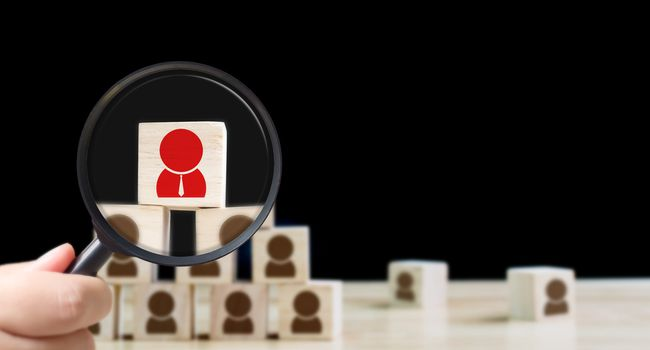 Human resources management and recruitment business hiring concept