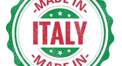 Made in Italy stamp isolated on white background. Italy Label.