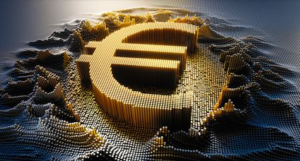 Digital Euro currency Symbol