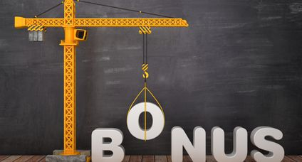 Tower Crane with BONUS Word on Chalkboard Background – 3D Rendering