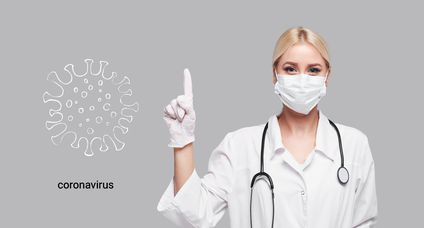Coronavirus in China. Novel coronavirus (2019-nCoV), woman doctor in white medical face mask. Concept of coronavirus quarantine. Attention