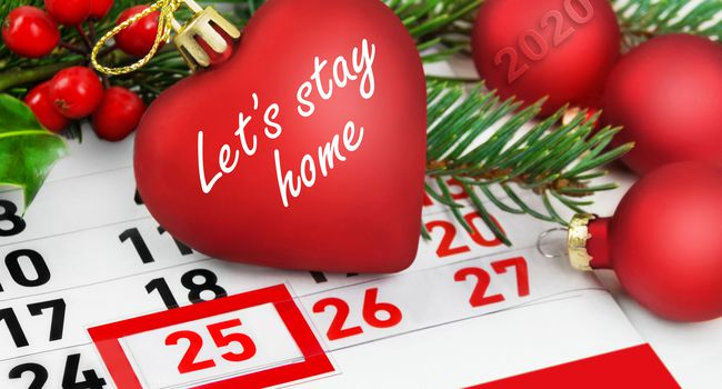 Let's stay home and Christmas Time calendar 2020