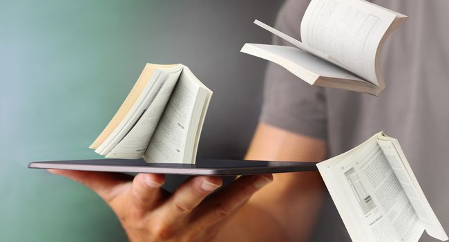 Jump out books from the tablet