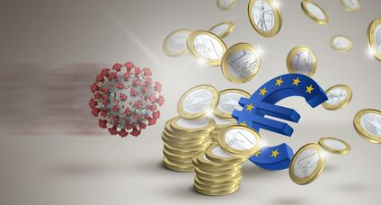 Euro devaluation due to coronavirus