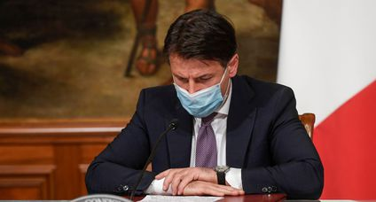 Italy Prime Minister Giuseppe Conte Press Conference