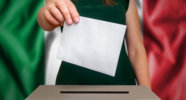 Election in Italy – voting at the ballot box