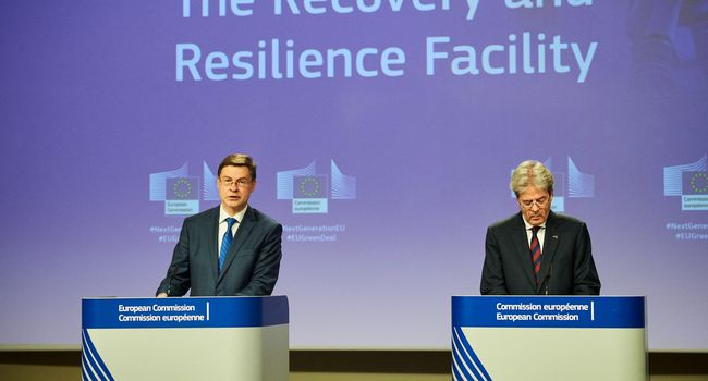 Press conference of Valdis Dombrovskis, Executive Vice-President of the European Commission, and Paolo Gentiloni, European Commissioner, on Recovery and Resilience