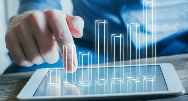 business analytics and financial technology concept