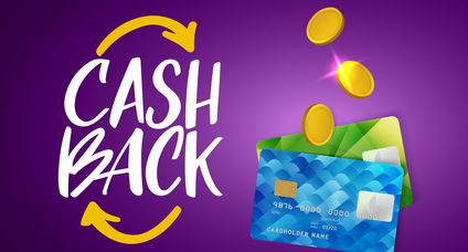 Cash Back Service Template Banner. Credit Card and Money Vector Design. Cashback Concept. Money Refund Logo