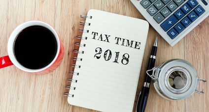 Tax Time Text on Notepad