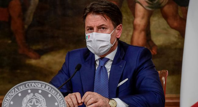 Prime Minister Giuseppe Conte Press Conference On New Covid-19 Measures
