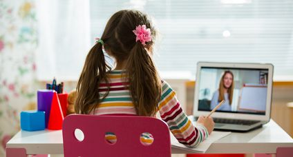 Online education and e-learning concept.