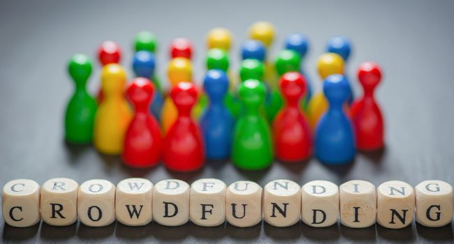 Crowdfunding with cube Letters